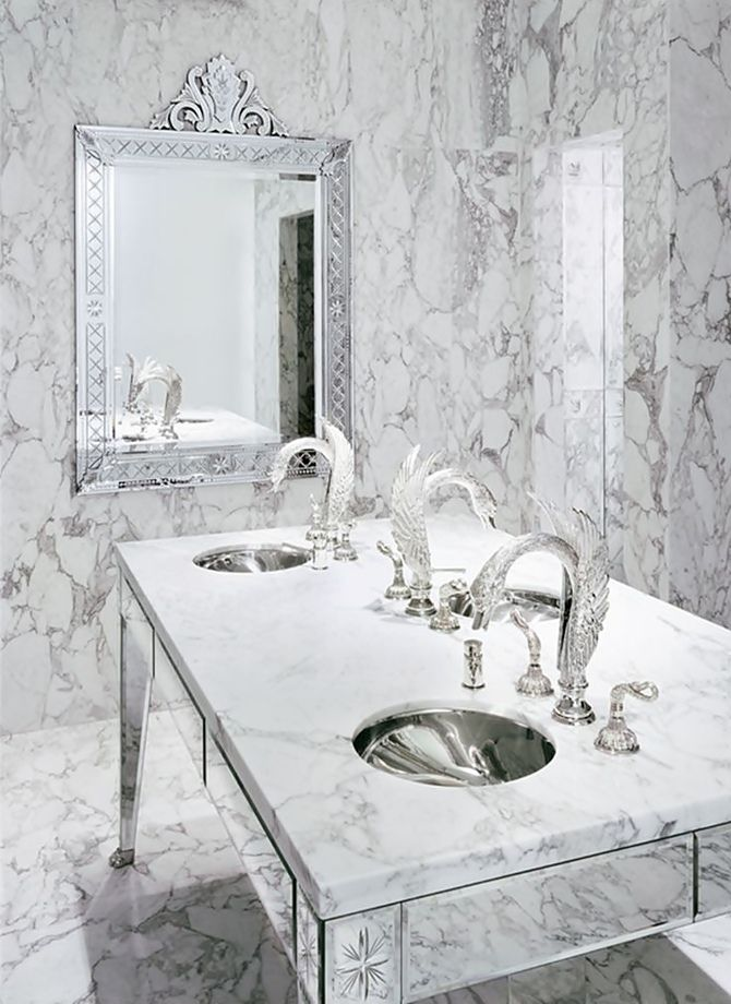 LUXURY HOTELS INTERIORS | Luxury Marble Bathroom at Hotel Faena Buenos Aires by Philippe Starck. | bocadolobo.com | #luxuryhotels #besthotels