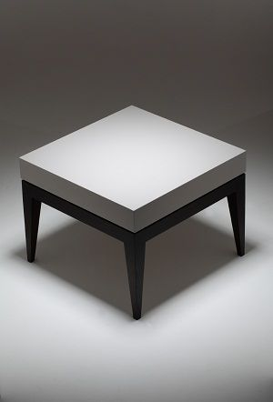 Ag143 Argento side table_Matt Taupe_ Wenge legs.     Michael Northcroft Argento Furniture www.michaelnorthcroft.com