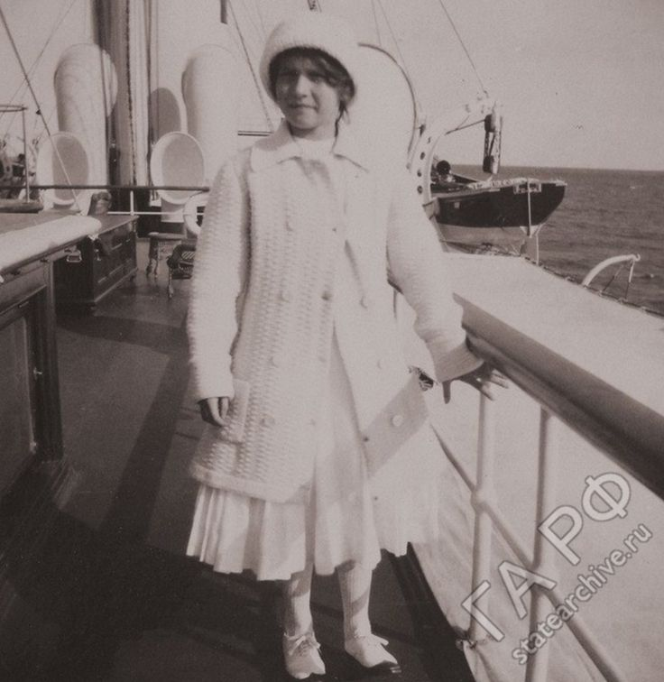 Newly released photograph of Grand Duchess Anastasia, ca. 1912.