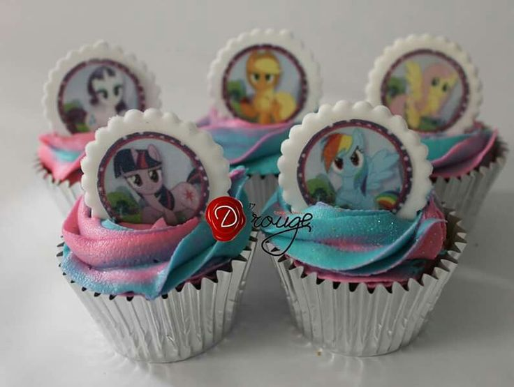 Cupcakes My little pony 100 % Comestibles.
