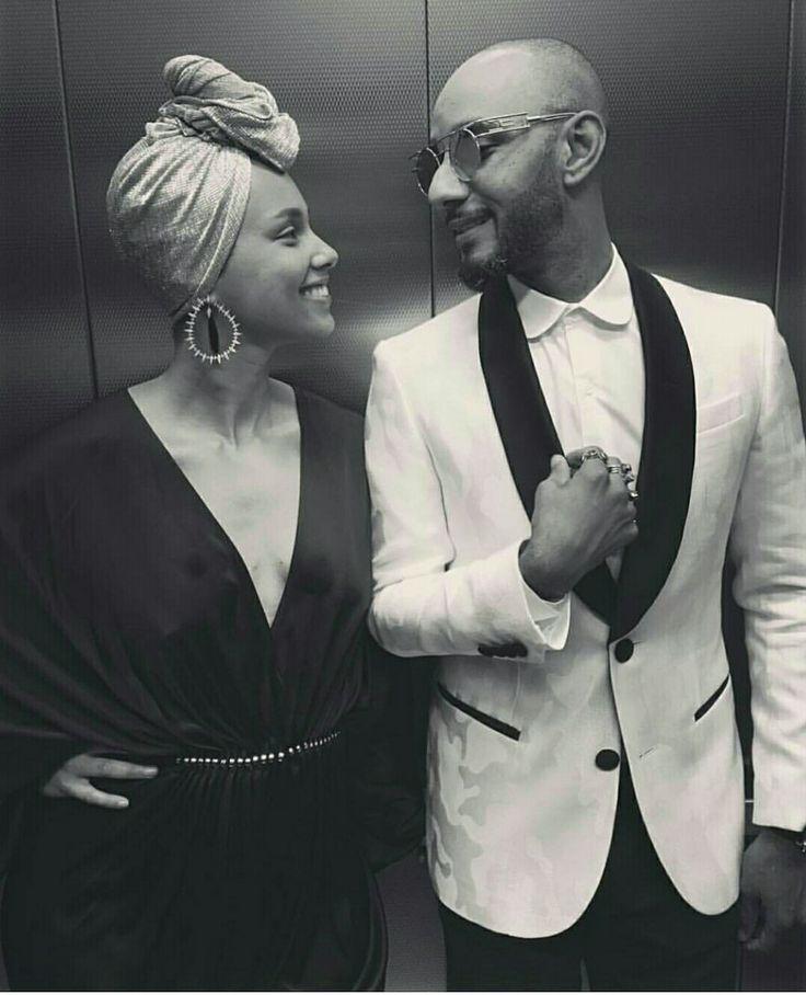 Alicia Keys & Husband Swizz Beats