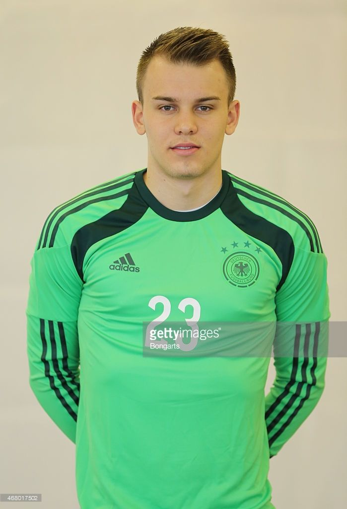 Goalkeeper Timon Wellenreuther of the German national team poses during the team presentation of U20 Germany on March 29, 2015 in Jena, Germany.