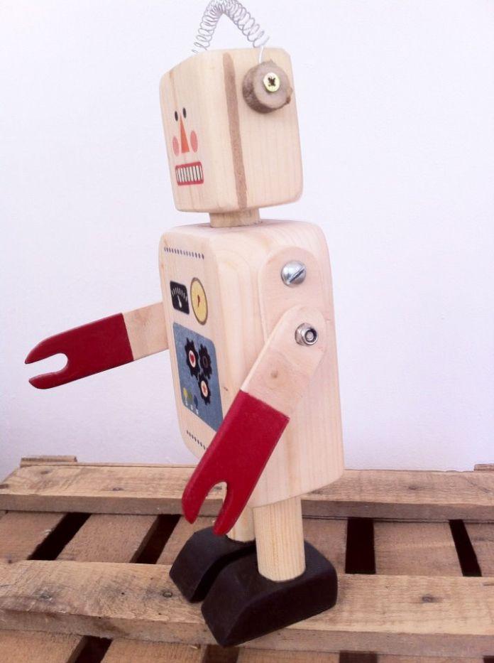 46 Best Wooden Robot Images On Pinterest Wood Toys
