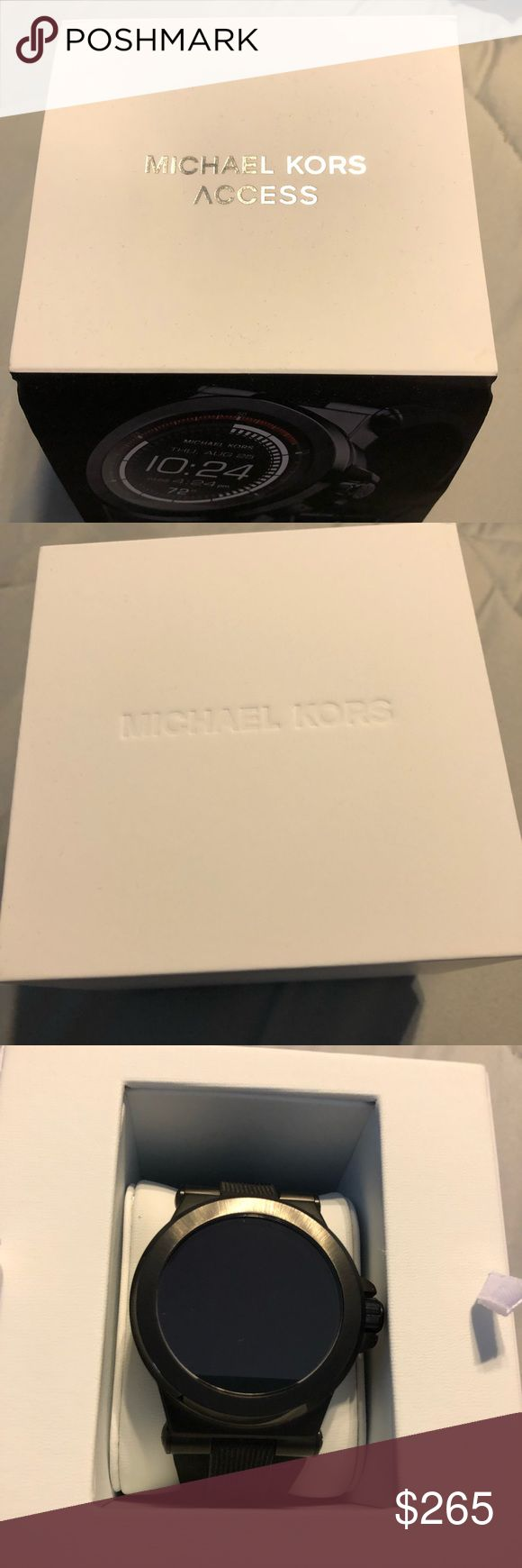 ⭐️MICHAEL KORS SMART WATCH⭐️ Hi. This is a brand new ( only wore once, didn't pair well with my husbands iPhone. ) Michael Kors Smart Watch. It's made more for android imo. It comes with box and paperwork. *Price is firm* KORS Michael Kors Bags