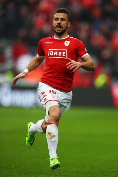 Orlando Sa of Standard Liege in action during the Belgian Jupiler Pro League match between Royal Standard de Liege and KAA Gent held at Stade Maurice Dufrasne on February 19, 2017 in Liege, Belgium.