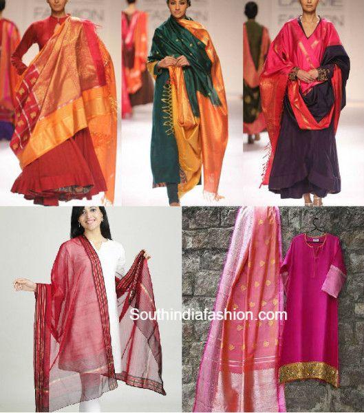 reuse old silk sarees, ideas to recycle old sarees, what to do with old silk kajeevaram sarees