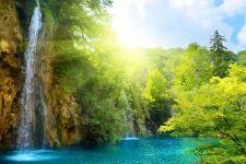 wallpapers background waterfall waterfalls sunny hd wallpaper