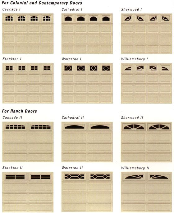 Elegant Wide Variety Of Garage Door Window Panels