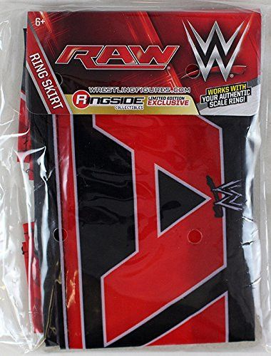 Ring Skirt (Raw 2014 w/ WWE Website) - WWE Ring Skirt Ringside Exclusive Wicked Cool Toys Toy Wrestling Action Figure Playset Accessory RING NOT INCLUDED