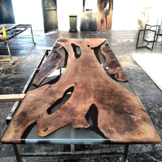 Wooden Epoxy Table Wooden Table Epoxy Resin Walnut Table