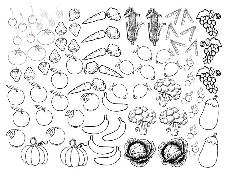 Fruits and Veggies by Color  printable