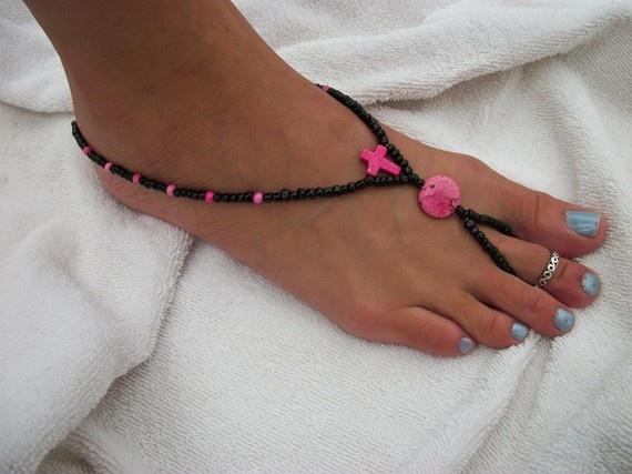 Cross Barefoot Sandals