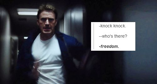 Freedom doesn't knock. Freedom RINGS *bald eagle screeches in background*