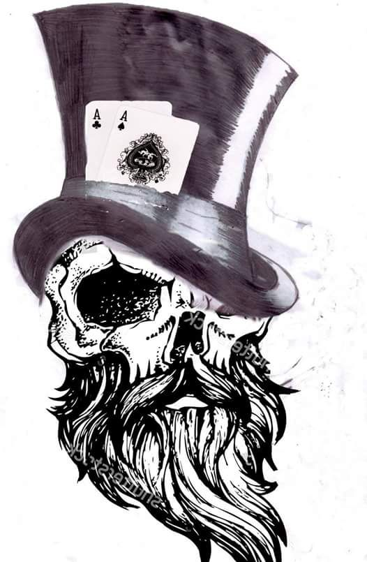 Gambler tattoo ideia #poker #tattoo #beard