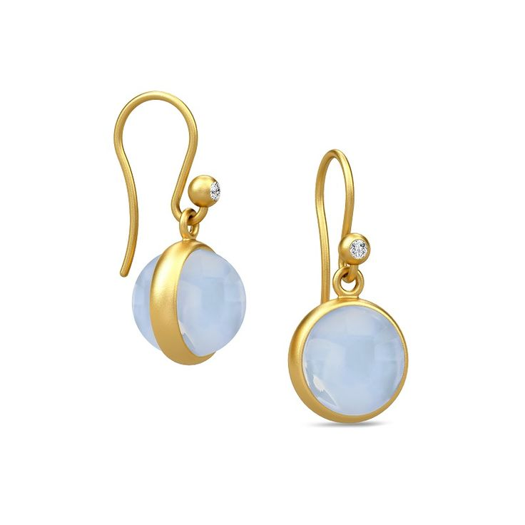 Prime Earring - Gold/Chalcedony