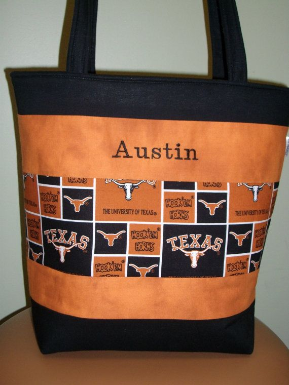 Hey, I found this really awesome Etsy listing at https://www.etsy.com/listing/117417080/university-of-texas-custom-diaper-bag