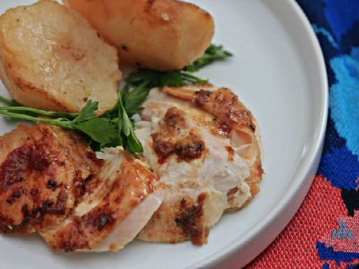Sunday Supper: Blood Orange-Glazed Turkey Breast With Oven-Roasted Potatoes. #recipe #dinnerideas