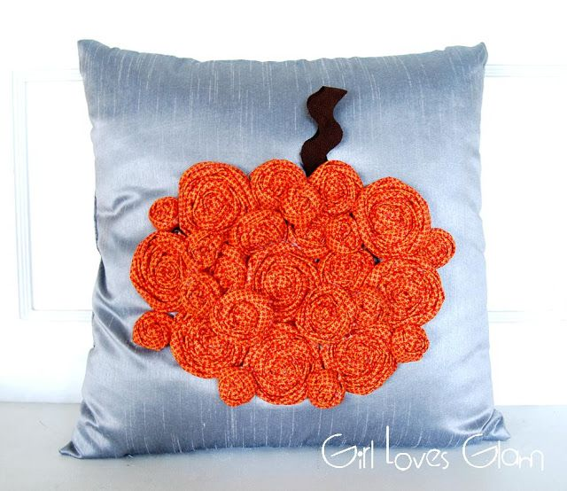 Rosette Pumpkin Pillow {Tutorial} - Girl Loves Glam