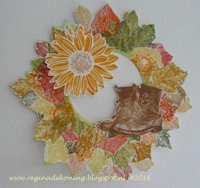 Regina's Artfun: Herfstkrans Artjourney challenge #73 Indian Summer...