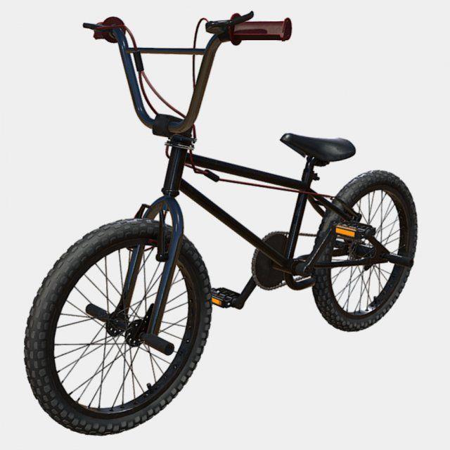 Low Poly PBR BMX stunt bike 3D Model .max .c4d .obj .3ds .fbx .lwo .stl @3DExport.com by dafunk