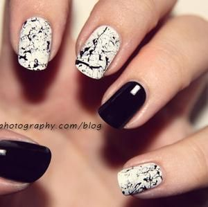 B Splatter Nail Art