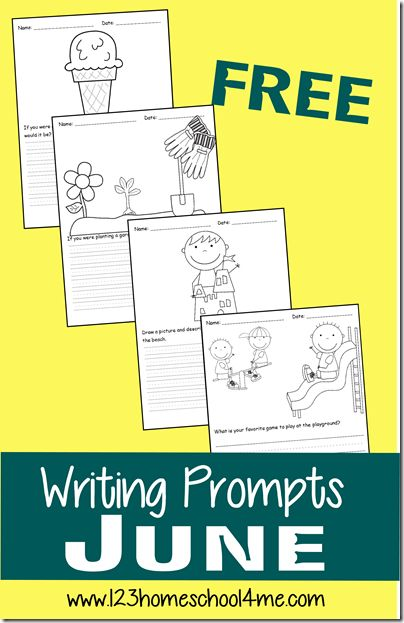 FREE June Writing Prompts are a fun, easy way to keep kids practicing this summer. So many cute prompts for Kindergarten - 4th grade. Great for homeschoolers too!