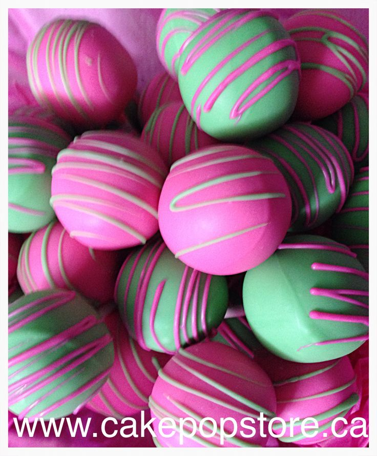 Floral Straw Cake Pops Coral Pink Mint Green White: 1000+ Images About Pink & Green Cake Pops On Pinterest