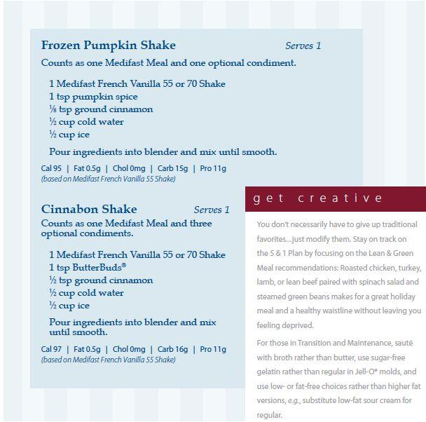Medifast Recipe - Frozen Pumpkin Shake
