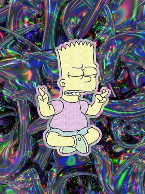 Image result for bart simpson smoking a joint cartoon