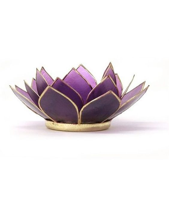 New! Amethyst Lotus Candle Holder | Robyn Nola Gifts