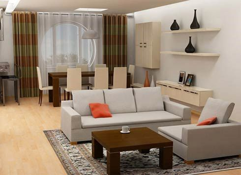 Living Room Interior Design Ideas With Dining Table Small Area