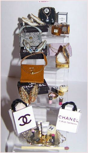 Chanel Miniatures by doll maker Beatrice Thierus