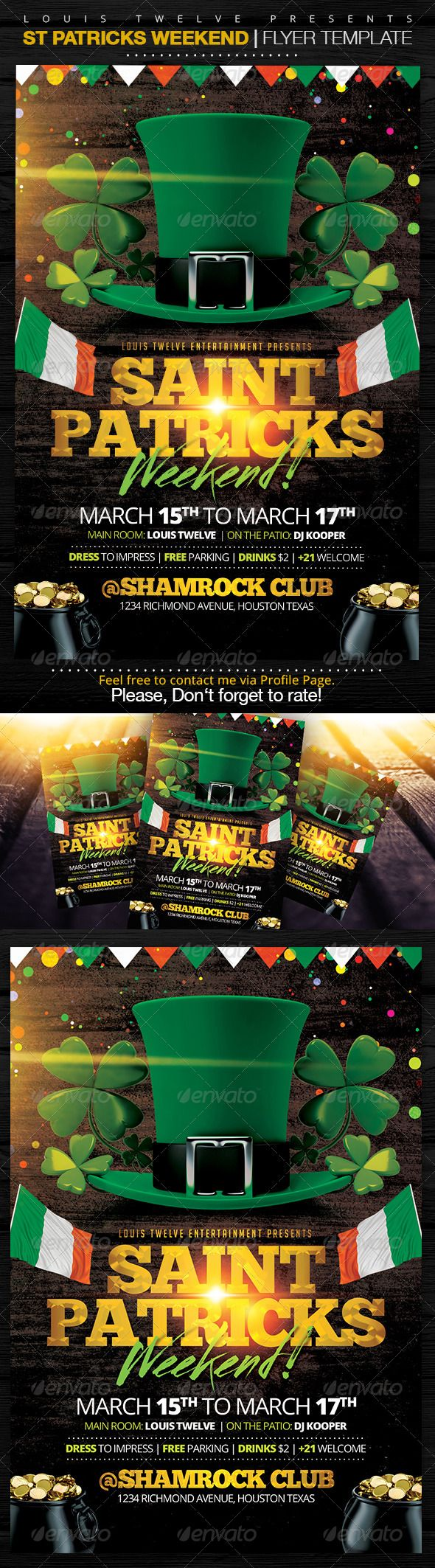 17 best images about flyers template saturday night st patricks weekend flyer template