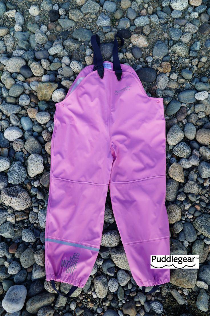 Puddlegear Bib Rainpants in Pink