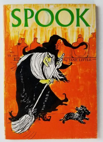 Vintage-Scholastic-SPOOK-TX-1001-Jane-Little-Witch-Dog-Halloween-5th-Printing