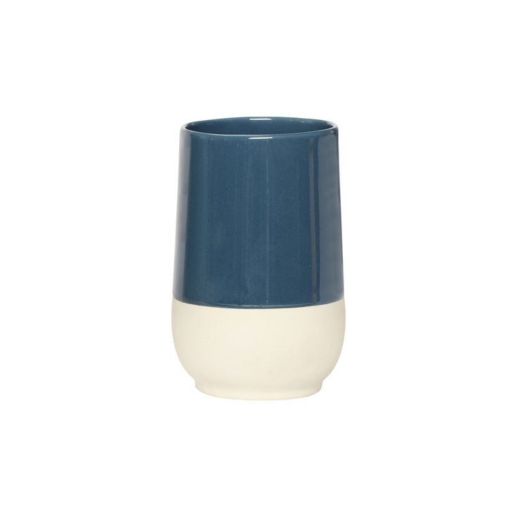 Blue and nature ceramic cup. Product number: 370202 - Designed by Hübsch