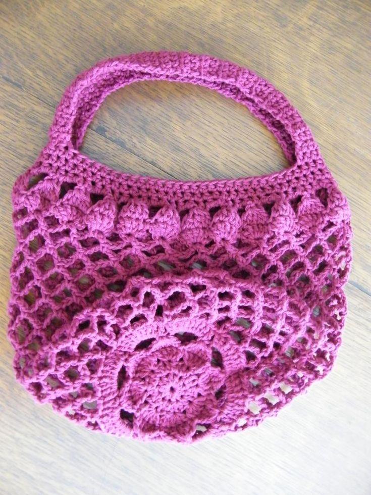 Crochet Yarn Bag Pattern : Mum Market Bag Pattern ? The Yarn Box Crochet Bags Pinterest