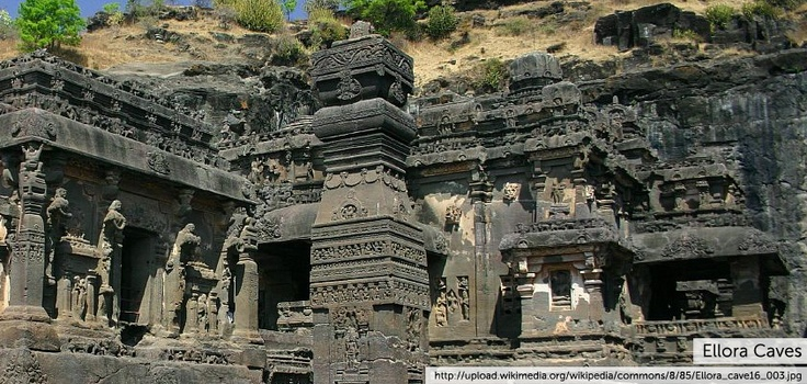 Ellora  is an archaeological site,  North-West of the city of Aurangabad in the Indian state of Maharashtra, built by the Rashtrakuta dynasty. Well known for its monumental caves, Ellora is a World Heritage Site. It  represents the epitome of Indian rock-cut architecture