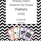 These colorful chevron ten frame number posters will brighten up your room while assisting young learners with number formation, recognition, and t...