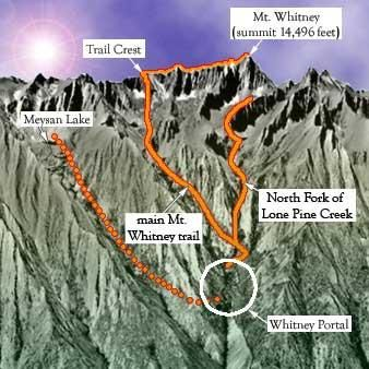 Mount Whitney Hiking Trails. Hiked main trail Aug. 2010. If I had a bucket list this accomplishment would've been in it.