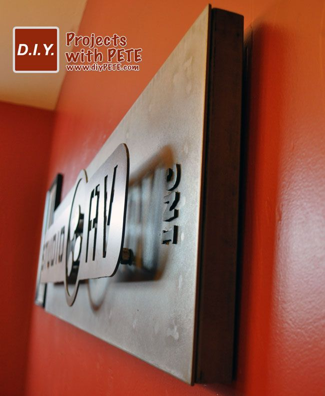Learn how to make a 3 dimensional metal art sign with basic welding and plasma cutting skills. He shows how to patina the metal to give it variations in color.