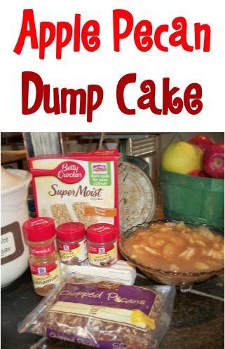 Apple Pecan Dump Cake Recipe!  {the perfect Fall dessert!} #cakes #recipes