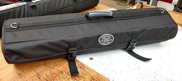 Custom Fishing Pole Roll Bag - rolled closed
