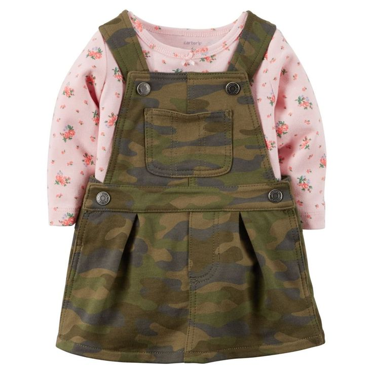 Carters Baby Girls Camouflage Jumper Set Size 24 Month NEW #carters #Everyday