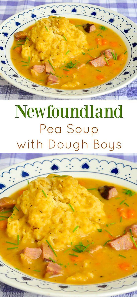 Traditional Newfoundland Pea Soup & Dough Boys - made with leftover ham or salt beef; a hearty local favourite that has warmed many a belly over the decades