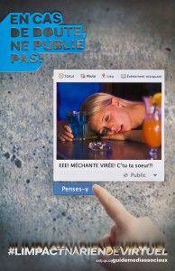 Campagne de sensibilisation du Cégep de St-Jérôme  concernant l'utilisation des réseaux sociaux par les étudiants #limpactnariendevirtuel -- DANS LE DOUTE NE PUBLIE PAS