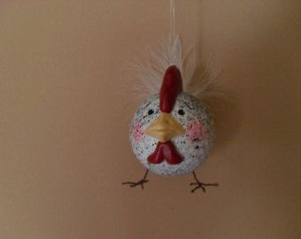 Chicken Golf Ball Ornament