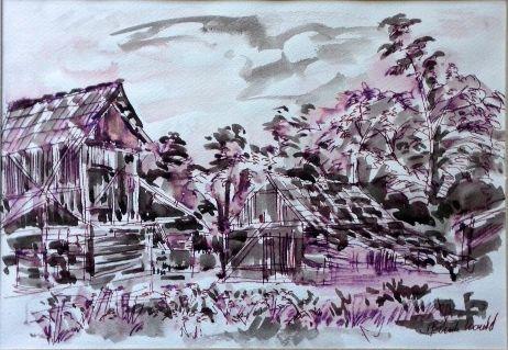 Konrad Biro ink painting