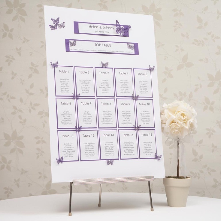Purple Butterfly Table Planner Kit A2