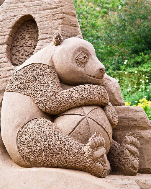 Panda Sand Sculpture. | Flickr - Photo Sharing!
